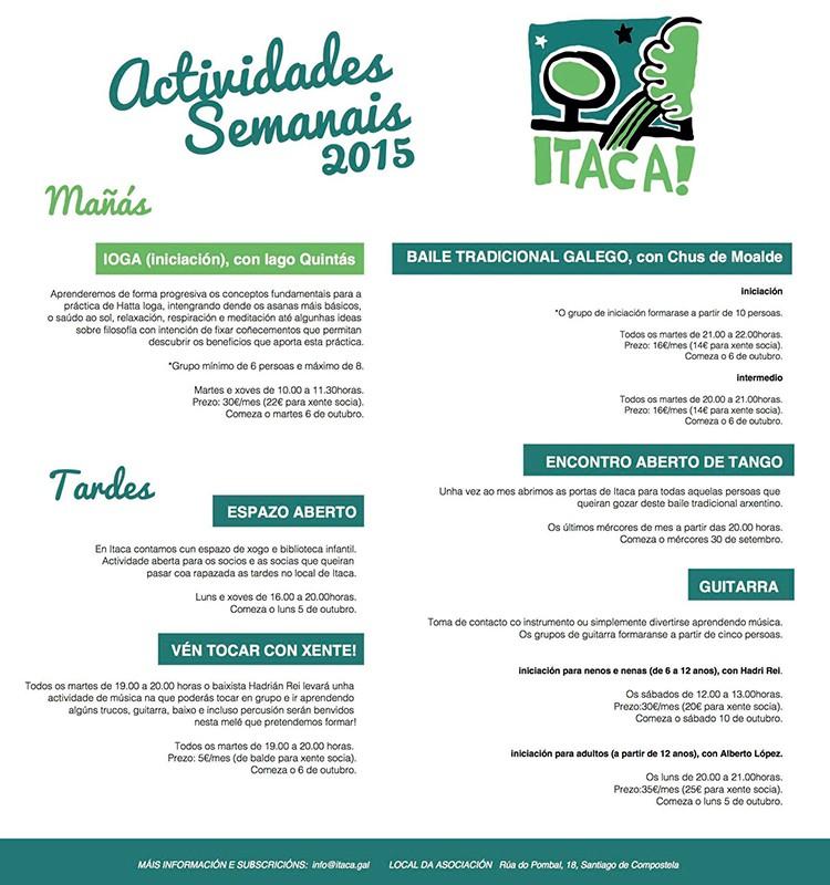 Comeza o curso en Itaca